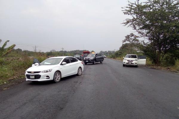 El enfrentamiento ocurrió sobre carretera Federal 145 La Tinaja -El recreo, en la colonia Segundo Verde Sánchez, en el Municipio Tierra Blanca