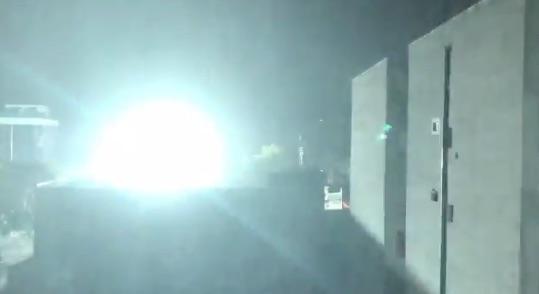 Explosión de Transformadores eléctricos. Foto: @PrzAllan