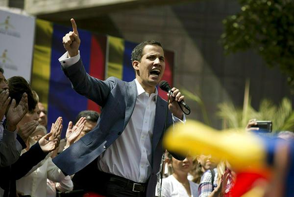 Fotografía del 11 de enero de 2019 de Juan Guaidó, presidente de la Asamblea Nacional de Venezuela. FOTO: AP