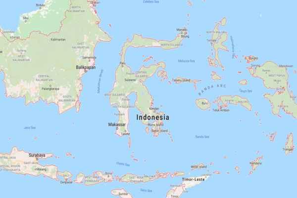 Una serie de réplicas se sintieron luego en la ciudad de Manado. Foto: Google Maps