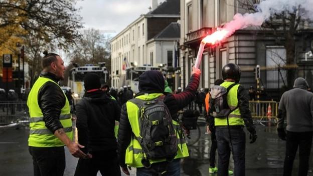 EL 17 DE DE NOVIEMBRE INICIARON LAS PROTESTAS EN FRANCIA. Foto: AFP