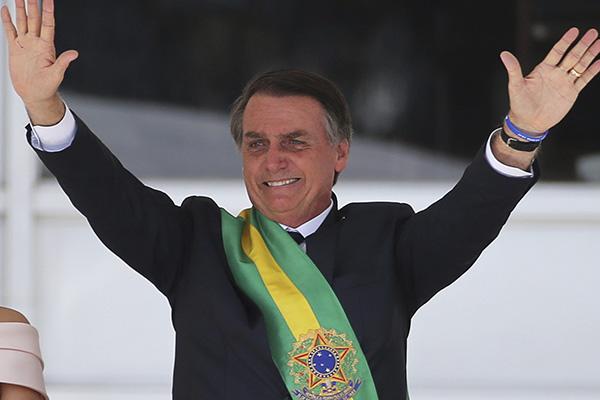 Bolsonaro asumió la presidencia de Brasil. FOTO: REUTERS