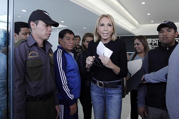 Laura Bozzo, conductora del programa Laura en América. FOTO: CUARTOSCURO