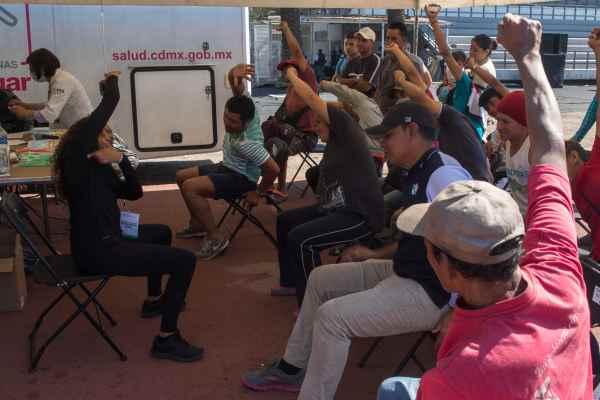El SNE instaló una ventanilla para dar apoyo a los migrantes que quieran buscar trabajo. Foto: Cuartoscuro