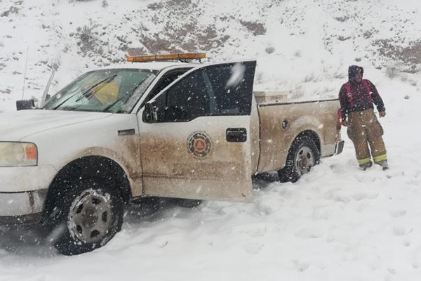 La nevada se registró los días 29 y 30 de diciembre. FOTO: GOBIERNO DE CHIHUAHUA