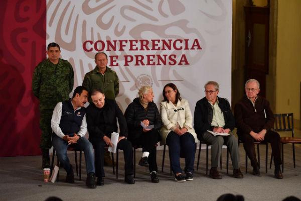 Esta tarde se ofreció otra conferencia especial para dar reporte de la tragedia en Hidalgo Foto: Pablo Salazar El Heraldo de México