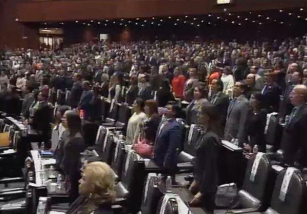 Se contabilizaron 348 votos a favor, 108 en contra y 10 abstenciones Foto: Captura de video