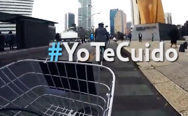 Expertos acompañan a nuevos ciclistas en su trayecto en la Ciudad de México Foto: Captura de pantalla