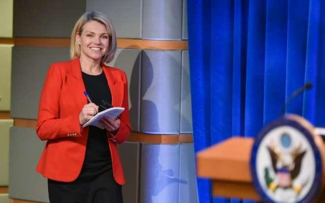Nauert fue nombrada vocera del Departamento de Estado hace 2 años. FOTO: AFP