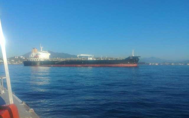 """El navío de nombre """"Puma"""", procedente de San Francisco, California, con 21 tripulantes se encuentra anclado en costas del puerto de Manzanillo. FOTO: ESPECIAL"""