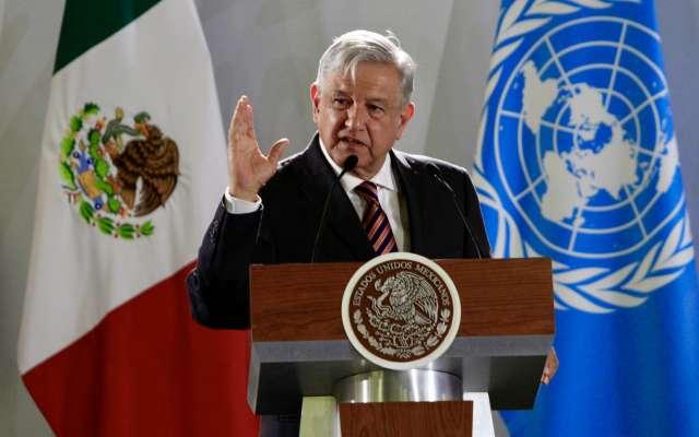 El mandatario participó en la firma del Acuerdo Marco entre el Gobierno de México y la Oficina de las Naciones Unidas de Servicios para Proyectos. FOTO: NOTIMEX
