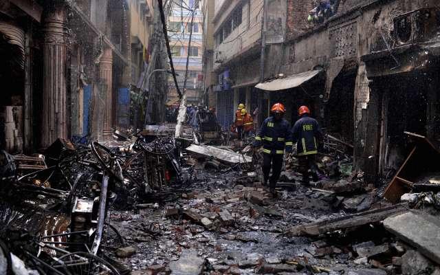 Incendio en Daca, Bangladesh