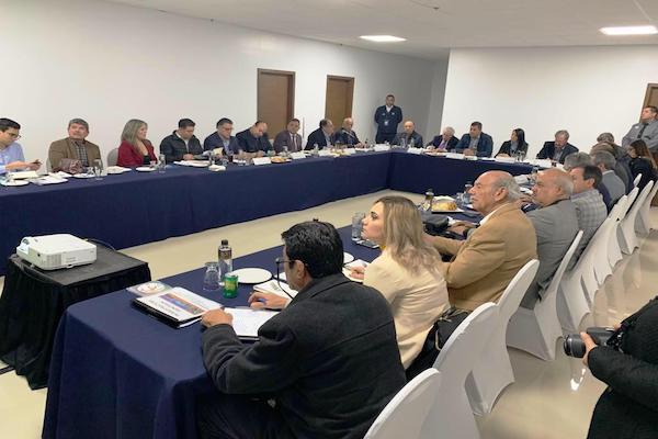 Reunión  entre autoridades de México y Estados Unidos. Foto: especial.
