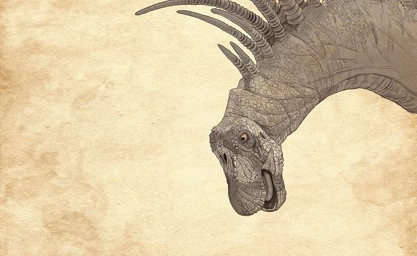 Nueva especie de dinosaurio con espinas fue descubierta por científicos en la Patagonia. ILUSTRACIÓN: ALLAN G. RAMÍREZ INFOGRAFÍA: DANIEL RAZO