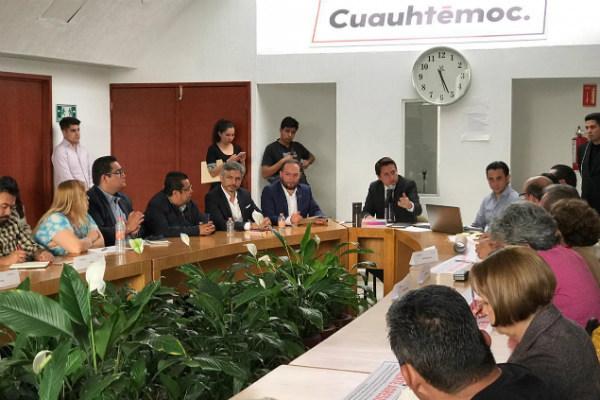"""Núñez destacó que su administración está a favor de los medios alternativos de transporte, pues """"la Cuauhtémoc ya no soporta más vehículos"""""""