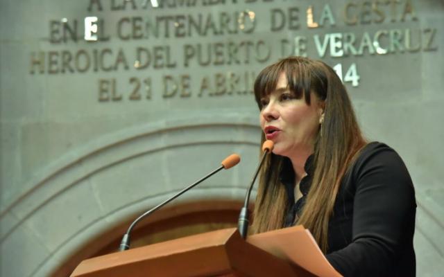 En la imagen, la panista Julieta Villalpando. FOTO: @Legismex