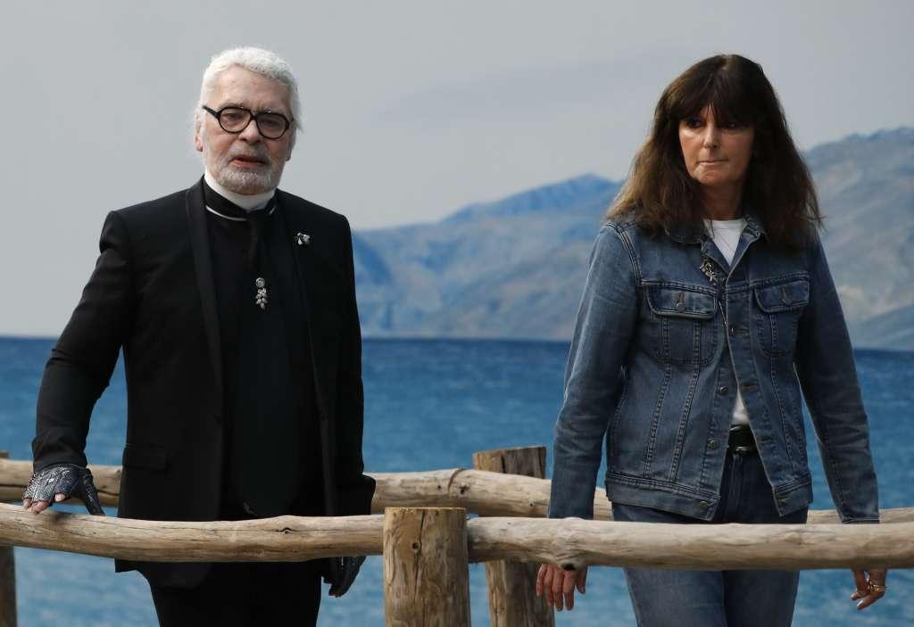 Virginie Viard y Karl Lagerfeld