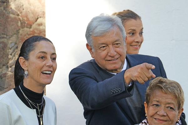 Sheinbaum y López Obrador admitieron el alza en homicidios en la capital. FOTO: SAÚL LÓPEZ /CUARTOSCURO.COM