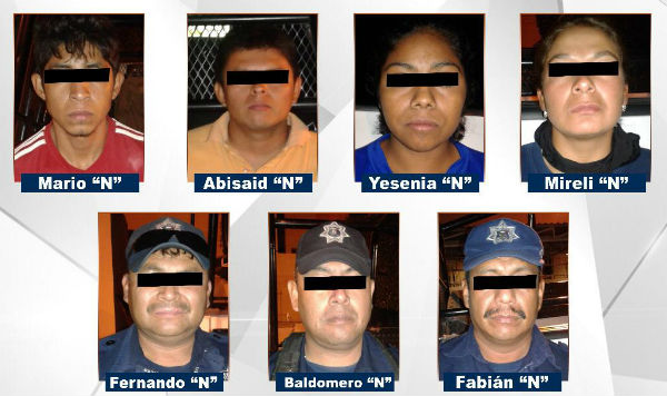 Entre lo asegurado a los uniformados se encontraban armas, drogas y equipo de radiocomunicación. FOTO: ESPECIAL