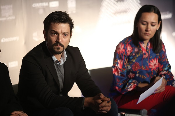 Con la presencia del actor Diego Luna se presentó la Gira de Documentales Ambulante que celebrará su 14 edición del 21 de febrero al 6 de mayo. Foto: Cuartoscuro