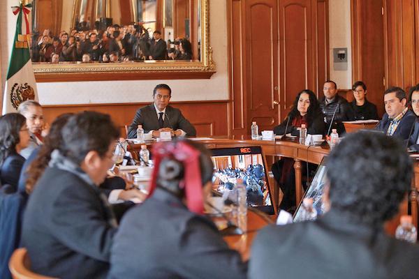 TOLUCA. El alcalde Juan Rodolfo Sánchez, tras tomar posesión el 1 de enero. FOTO: ARTEMIO GUERRA BAZ /CUARTOSCURO.COM