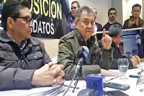 Jaime Martínez Veloz encabezó la conferencia donde descalificaron la encuesta. Foto: Especial.