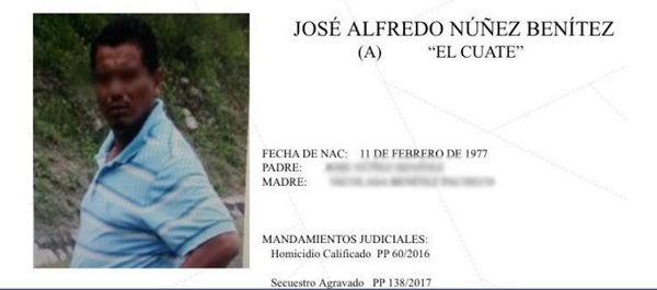 """Alfredo """"N"""", """"El Cuate"""", es señalado de ser el operador de Servando Gómez Martínez, alias """"La Tuta"""", quien fuera líder del desaparecido grupo criminal """"Los Caballeros Templarios"""" . Foto: Especial"""