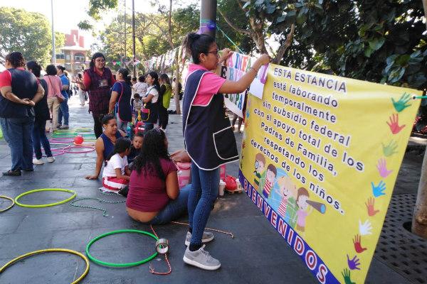 """Antonia Trinidad Figueroa, de la estancia infantil """"Sonrisas"""" de Cuernavaca, explicó que la cuota aumentó 100 pesos"""