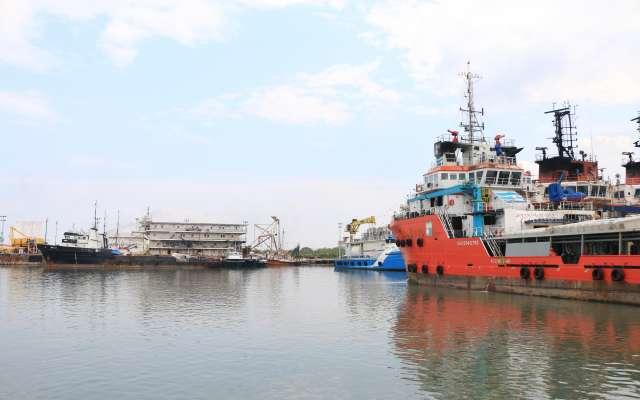 Aspectos generales del puerto marítimo Dos Bocas donde se construirá en algunos meses la nueva refinería. FOTO: ARCHIVO/ CUARTOSCURO