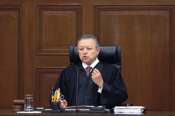 El ministro presidente de la Suprema Corte de Justicia de la Nación (SCJN), Arturo Zaldívar. FOTO: ARCHIVO/ CUARTOSCURO