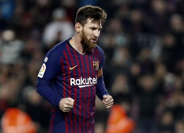 El delantero argentino del FC Barcelona, Lionel Messi, hizo el gol de la esperanza culé, pero no alcanzó para empatar. Foto: EFE