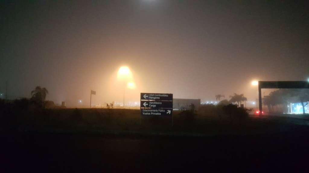 Niebla en Aeropuerto de Veracruz