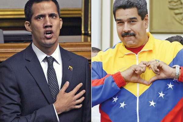 Guaidó ha conseguido un importante apoyo internacional. Maduro acusa un golpe de Estado.  Foto: AP