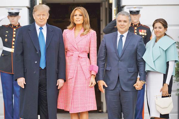 Trump recibió ayer al presidente de Colombia, Iván Duque. Foto: AP