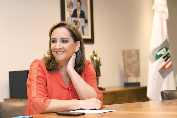 PERIODO. La presidenta del PRI asegura que no se quedará en el cargo después de agosto. Foto: Pablo Salazar / El Heraldo de México.