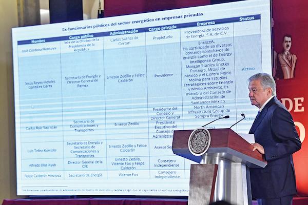 El titular del Ejecutivo, ayer, en la conferencia mañanera, descartó iniciar procesos legales contra las compañías señaladas. Foto:  Edgar López / El Heraldo de México.