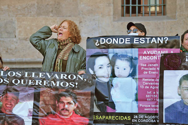 DOLOR. Los colectivos de familiares de personas desaparecidas exigen ayuda de las autoridades. Foto: Leslie Pérez / El Heraldo de México.
