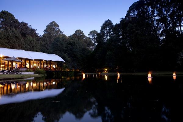 Su arquitectura es la más innovadora, combina lo acogedor de una cabaña en el bosque con las comodidades de un hotel boutique. Sus instalaciones evocan una sensación de ligereza y temporalidad armónica con el entorno. Es ideal para desconectarte del exterior y conectarte con tu entorno. Es el lugar ideal para realizar una boda grande.  Foto: Yaz Rivera/Cortesía