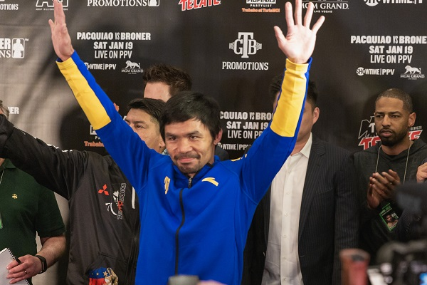 Pacquiao vs Broner Grand Arrivals. Foto: Especial