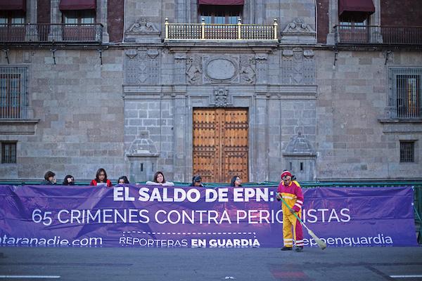 QUEJAS. El gremio periodístico ha realizado diversas protestas por los asesinatos en su contra. FOTO: ISABEL MATEOS /CUARTOSCURO.COM