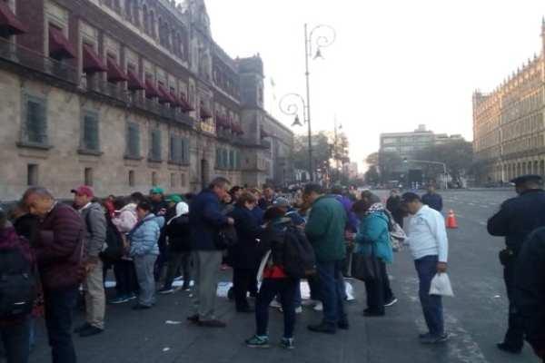 Hasta el momento no hay afectaciones viales en el cuadro del Zócalo capitalino. Foto: Ovial