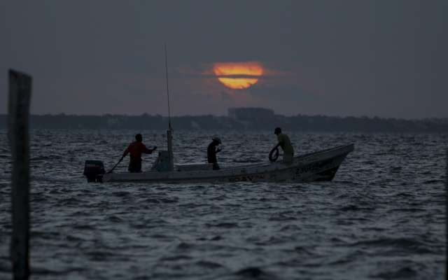 Pescadores en Yucatán