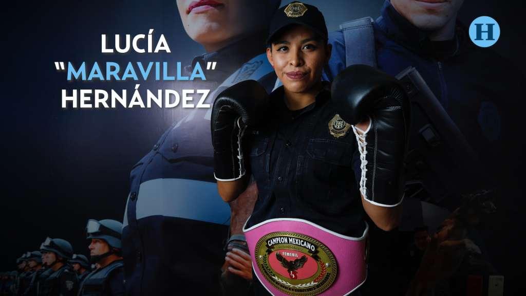 Lucía es boxeadora y policía