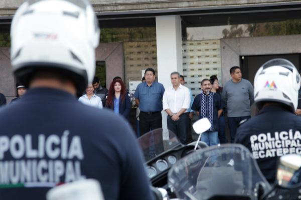 En su primer mes de gobierno, el alcalde de Ecatepec aseguró que continuarán los trabajos de reforzamiento de patrullaje y seguridad pública