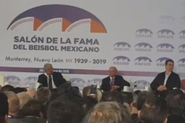 López Obrador inaugura el Salón de la Fama del Beisbol en Monterrey: EN VIVO