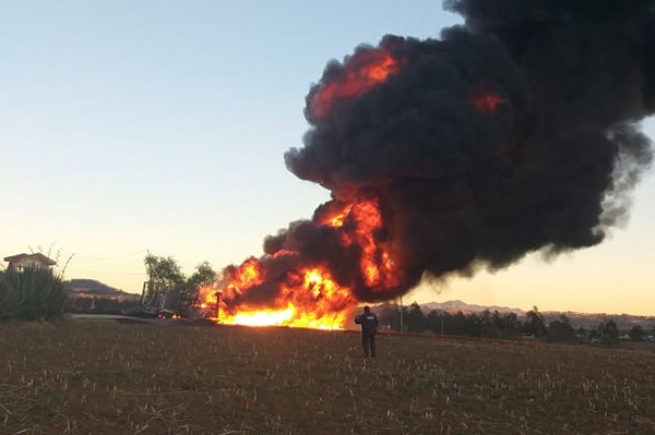 Incendio en ducto, Huauchinango