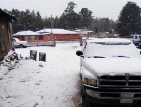 Cae nieve en Durango
