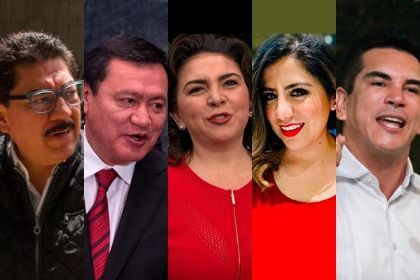 Ulises Ruiz, Alejandro Moreno, Ivonne Ortega, Lorena Piñóny Miguel Ángel Osorio Chong han mostrado interés por dirigir al PRI. FOTO: ESPECIAL