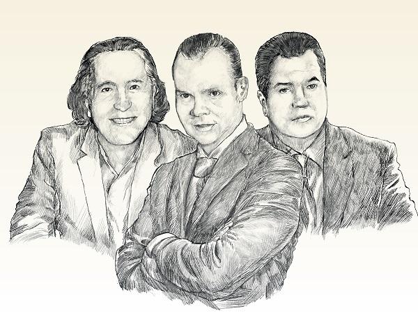 Daniel Chávez Morán, Olegario Vázquez Aldir y Miguel Alemán Magnani son destacables empresarios del país aconsejan al Presidente. ILUSTRACIÓN: NORBERTO CARRASCO