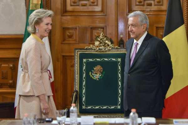 La princesa Astrid, vino a México en representación de su majestad el rey Felipe. Foto: @lopezobrador_